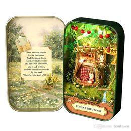 Wholesale Arts Room - Dollhouse Miniature Box Theatre Idea Gift Box Theater Handmade Theme Creative DIY Cute Room Art Handicraft Gifts for Girl's Birthday