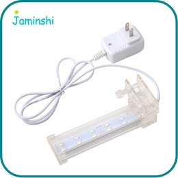 Wholesale Crystal White AC220V Energy Electricity Saving Home Aquarium Fish Tank Waterproof Clip Lamp LED Light Ornament