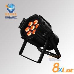 Wholesale Lighting Projector Price - 8X LOT Factory Price Rasha Aluminum7pcs*10W RGBW 4IN1Mini LED Par Light,LED Mega Par38,Stage Light,Mini LED Projector Light