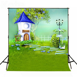 Wholesale Free Photography Backgrounds - Kate Backdrop Children Background Fairy Tale 5x7ft background for photography Green Wrinkle Free Photography Backdrop Background WY00072