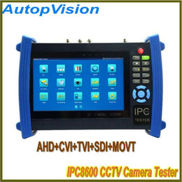 Wholesale Fault Locator - IPC-8600 Touch Screen CCTV Camera Tester AHD CVI TVI SDI function with Digital Multi-Meter+TDR Cable Test+ visual fault locator