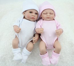 Wholesale Reborn Baby Preemie - 10 Inch Preemie Bonecas Bebes Reborn De Silicone Baby Dolls For Sale Fashion Twin Boy And Girl Toy Gift