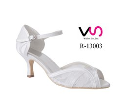 Wholesale Ivory Wedding Shoes Bows - R-13003 White Ivory Wedding Dress Shoes 10cm Open Shoe Toe Women Bridal Shoes Bridemaid Flower girl Shoes Free Shipping From Euro Size 35-42