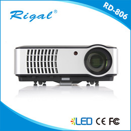 Wholesale Used Lcd Tvs - Wholesale- Free shipping !Native 1280x800 Digital 1080P Full HD 3D Smart wifi Video HDMI USB TV LCD LED home cinema business use projector