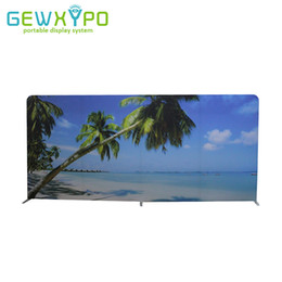 Wholesale Roll Banner Stand - 500cm Width Size Straight Easy Fabric Display Banner Stand With One Side Printing,Portable Exhibition Booth Advertising Backwall