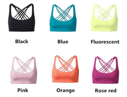 Wholesale Cross Back Bra Sports - Woman Sexy Candy colors Sports Bra tops Beautiful back cross Yoga Elasticity Bare back Slim Skinny Running Fitness Casual home exercise
