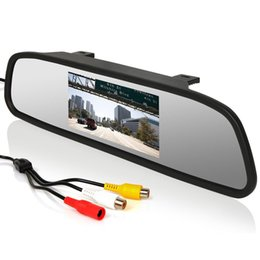 "Wholesale Rear Vision Mirror Reverse Camera - 4.3""LCD Car Rear View Mirror Monitor &8LED Night Vision HD car Reverse Backup Camera CMO_51S"