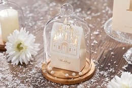 Wholesale laser cut boxes - New Laser Cut Hollow Wedding Favors Candy Box 3D Castle sweet Chocolates Boxes for Wedding Party Baby Shower Favor Gifts 50pcs lot