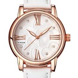 Wholesale Limited Edition Girls Dresses - Watch Women Wwoor Brand Luxury Fashion Casual Quartz Watches Lady Relojes Mujer Women Wristwatches Girl Dress Clock 5090402G2