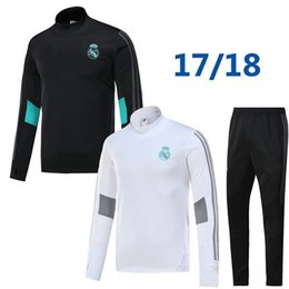 Wholesale Rip Sweater - 17 18 real madrid tracksuit training sweater suit long pants 2017 2018 real madrid trainning sweater top set jacket RONALDO