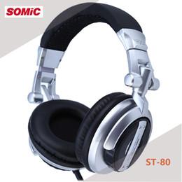 Соматические гарнитуры онлайн-Somic ST-80 профессиональный монитор музыка гарнитура HiFi сабвуфер расширенный наушники супер бас шумоизоляции DJ наушники стерео наушники