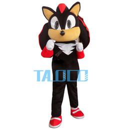 Wholesale Sonic Fancy Dress - Wholesale-Shadow the Hedgehog Black Sonic Mascot Costume Fancy Dress Adult Free Shipping