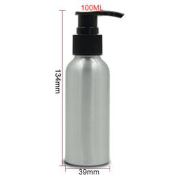 2019 алюминиевая упаковка для косметики 100 мл многоразового использования пустой алюминиевый насос бутылки шампунь суб-розлива опрыскиватель бутылки косметическая упаковка 3 цвета опрыскиватель 20 шт./лот HN10 дешево алюминиевая упаковка для косметики