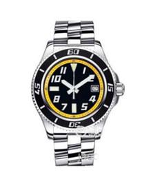 Orologio da uomo di lusso Superocean 42 Orologio da uomo automatico in acciaio quadrante nero e giallo A1736402-BA32SS Orologio da uomo da