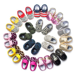 Wholesale Spotted Baby Shoes - 8Colors Baby moccasins soft sole Leopard, spotted, camoufla first walker shoes baby newborn Matte texture shoes maccasions shoes 120