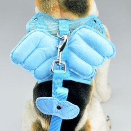 Wholesale Pvc Dog Collar - New Arrival Small Medium Dog Angle Wings Harness Solid Dogs Neck Safety Outdoor & Indoor Sporting PVC+ Nylon Harness Size S, M, L