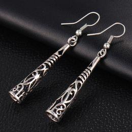 Wholesale Tassel Pearl Mother - Retro Long Hollow Vintage Silver Tassel Drop Earring Bohemia Fashion Women Pendant Dangle Earrings