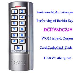 Wholesale Metal Control Panel - Perfect Digital Backlit Key Support 12V 24V Metal Keypad Access Control Manufacturer Fast Operating Speed SingleDoor RFID Access
