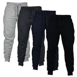Wholesale Beige Slacks Men - Wholesale- Men's Casual Sweat Pants Jogger Harem Trousers Slacks Wear Drawstring
