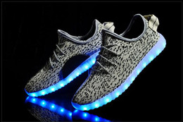 Wholesale Kids Shoe Colorful - Hot LED Shoes light colorful Flashing Shoes with USB Charge Unisex Fluorescent Couple Shoes Party and Sport Casual Shoes for Kid and Adult
