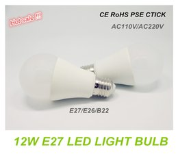 Wholesale A19 Warm White - E27 E26 12W Globe LED Light Bulbs High Power A19 Dimmable SMD LED Bulb Lights B22 A60 LED Lamps Replace 100W Traditional Bulbs