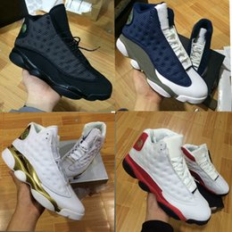 Wholesale Up Training - 2017 WITH BOX 13 OG Black Cat Basketball Shoes For Men Sports Training Sneakers High Quality Blackcat