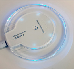 Wholesale Original Smartphones - Exquisite Qi Original Crystal Round Charger Base Wireless Fast Charge Charger For Apple Phone Samsung And Most Smartphones