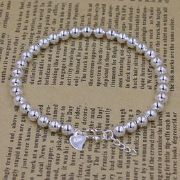 Wholesale Chain Models Gold - South Korea trend of jewelry wholesale 925 silver bracelets bead bracelets explosion models full glossy silver bracelet