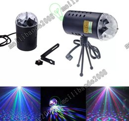 Wholesale 3w Green Laser - Opening discount US EU 110V 220V Mini Laser Projector 3w Light Full Color LED Crystal Rotating RGB Stage Light Party Stage Club DJ MYY