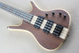 Wholesale One Piece Basses - Custom Shop one piece neck through the body Matte frosted rosewood cap W LTD Corvette 4 strings electric bass active pickups free shipping