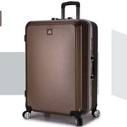 Wholesale New Style Luggage - Wholesale-sport bag free shipping women and men bag,Eight color ABS+PC trolley case, new style, travel luggage, lock, mute,20 24 28