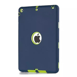 Wholesale Ipad Silicon Cases - Ipad case Defender Shockproof Robot Case Military Heavy Silicon Cover for Ipad 2 3 4 5 6 Air Mini 4 Case Good Quality