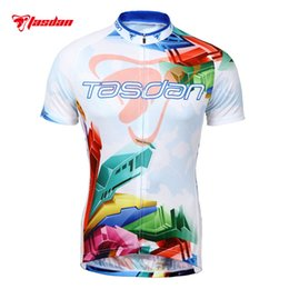 Wholesale Bicycle Jerseys Custom - Tasdan Custom Cycling Jerseys Cycling Clothing Short Sleeve Top Shirt Clothing Bicycle Sportwear Cycling Suits for Men