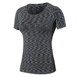 Wholesale Compression Shirts Women - 2016 Gym T shirt Compression Tights Jersey Sport T-shirts Dry Quick Running Short Sleeve Fitness Clothes Women Tees tops