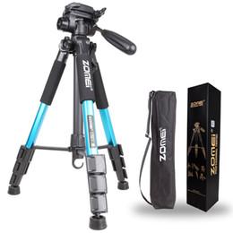Wholesale Digital Camera Slr - ZOMEI Q111 Professional Portable Travel Aluminum Camera Tripod&Pan Head for SLR DSLR Digital Camera