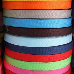 Deutschland 100 yards / rolle PP Band Polyesterfaser 1 cm breite Gurtband Band Gurtband Hundehalsband Harness Outdoor Rucksack Tasche Teile Zubehör Versorgung