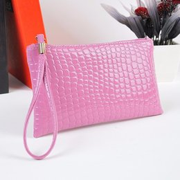 Wholesale Wholesale Leather Designer Bags - Hot Sale Luxury Women's Handbags Purse Fashion Designer Crocodile Leather Wallet Casual Money Bag Clutch Phone Coin Card Holder