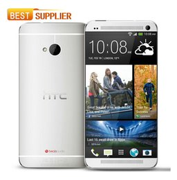 Wholesale one m7 phones - 2016 Hot Sale Original Unlocked HTC ONE M7 801e Quad-core 4.7''TouchScreen Android OS GPS WIFI LET 2GB RAM 32GB ROM Mobile phone