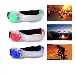 Wholesale led reflective armband - LED Armband Strap Wearable Luminous Arm Belt Reflective Running Gear Wristband LED Flashing Light Glow Safety Band KKA3119