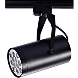 Wholesale Track Light 15w - DHL shipping Black White LED track light 7W 9W 12W 15W 18W lighting Natural Cool Warm White Led Ceiling Wall Spot Lights 85V-265V