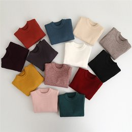 Wholesale Infant Wool Sweater - Kids Girls Boys Pullover Sweater 2-7Year Baby Girl Boy Cardigan Sweaters Infant Knitted Coat 13 Colors Children Outwear Clothing B901