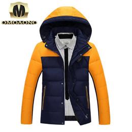 Wholesale eiderdown coat - Fall-Men's Winter Down Jacket White Duck Down Eiderdown Outerwear Matching Color Coat