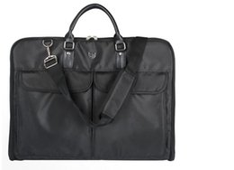 Wholesale Hangers For Men - Waterproof Black Zipper Garment Bag With Hanger Clamp Waterproof Suit Bag Men Business Trip Travel Bag For Suit