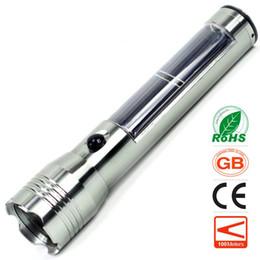 Wholesale Solar Charging Led Flashlight - New Type LED Small Solar Light Flashlight Wholesale Price Long-range Charge 3W Aluminum Alloy Multifunctional Flashlight Torch
