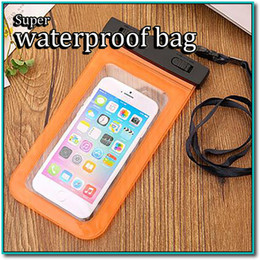 Wholesale Transparent Covers For S4 - Waterproof Pouch Universal Phone Bag Clear Transparent Swim Diving Case Cover For S6 iPhone 6 Galaxy S5 S4 Note 4 With Free DHL