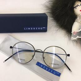 Wholesale titanium designer eyeglass frames - Lindberg eyeglasses frame titanium Spectacle Frame eyeglasses frames for Men Women Myopia Brand Designer Vintage Glasses frame clear lens