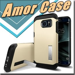 Wholesale Ultimate Fit - For iphone6s Amor case hard shell Ultimate protection Cover Case [Heavy Duty Cover + Built-In Stand] for Samsung Galaxy S7 edge s6 note45