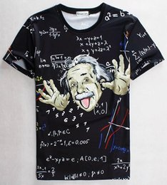 Wholesale Graphic Crew Necks - tshirt Math science T-shirt for boy girl Graphic 3d t shirt men women funny print Einstein t-shirt casual tops 1860