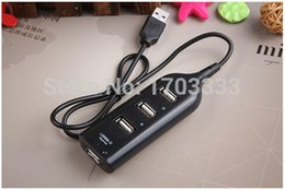 Wholesale high ra - 200pcs lot RA 4 Port High Speed Mini USB 2.0 HUB Adapter For Laptop PC 480Mbps Expansion Splitter