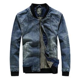 Wholesale Jaqueta Jeans Masculina - Wholesale- New High Quality Stylish Jaqueta Jeans Masculina Slim Fit Stand Collar Veste Jean Homme